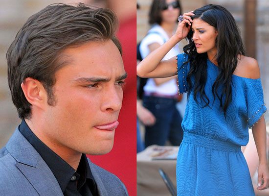 jessica szohr and ed westwick kissing. Ed, Chace and Jessica went