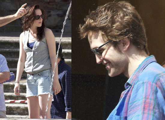 robert pattinson and kristen stewart new moon. His castmate Kristen Stewart