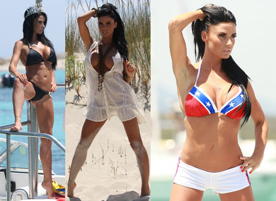 Princess Katie Price Salutes the US in Yet More Bikinis