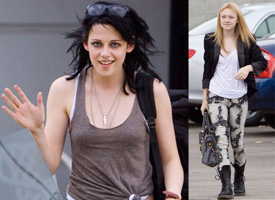 Kristen Stewart Shares A Smile And Settles In To Her New Style