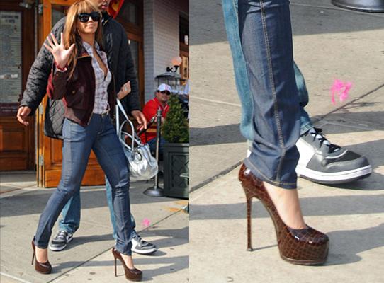 Beyonce'un Yüksek Topuklu Ayakkabıları