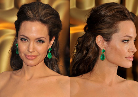 Angelina Jolie: A perfect face? EYES: To make Angelina's eyes stand out,