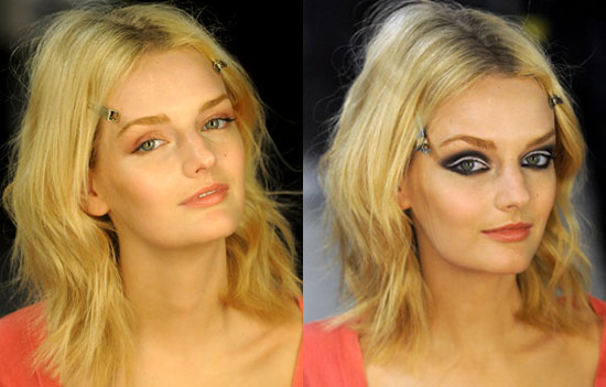 a dramatic black and white smoky eye. Out of these two makeup looks,