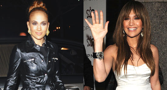 jennifer lopez hair 2009. Jennifer Lopez stood out in