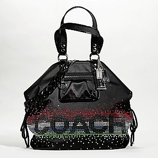&quot;Poppy&quot; rhinestone shoulder bag