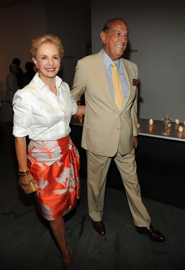 Carolina Herrera and Oscar de la Renta