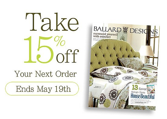 sale alert 15 percent off at ballard designs popsugar home
