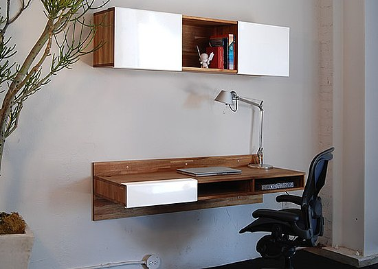 Crave worthy mash studios lax wall mounted desk for Lax wall mounted desk