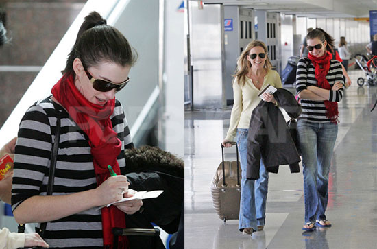 Anne Hathaway Chooses Comfort Over Style On The Airport. by China Fashion