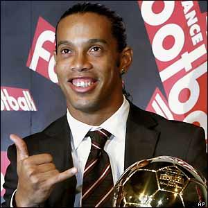Ronaldinho has a big one for you tonight!