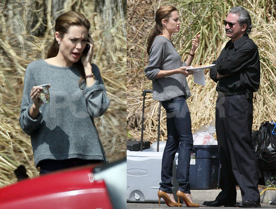 Angelina Jolie's casual straight hairstyle. To get Angie's casual chic look,