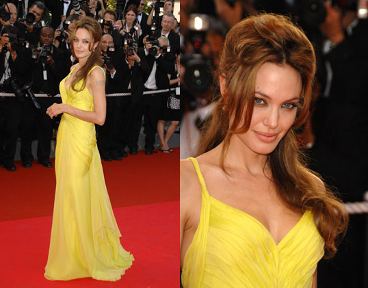 angelina jolie oscar dress 2011