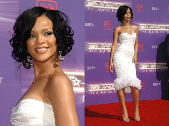 Before she chopped it all off, Rihanna donned a sweet wavy bob that