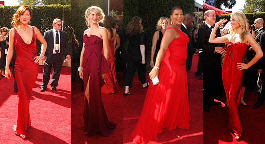 I am a sucker for a red dress on a red carpet. While some think it's red