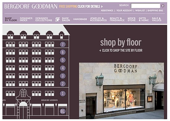 Fab site bergdorf goodman 39 s shop by floor feature popsugar fashion - Bergdorf goodman shoe salon ...