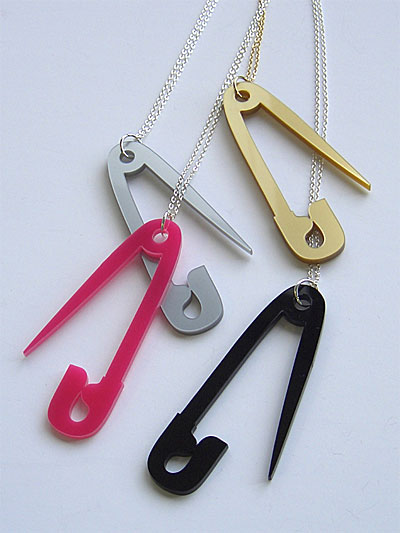 Safety pins aren't traditionally meant to be worn as necklaces,
