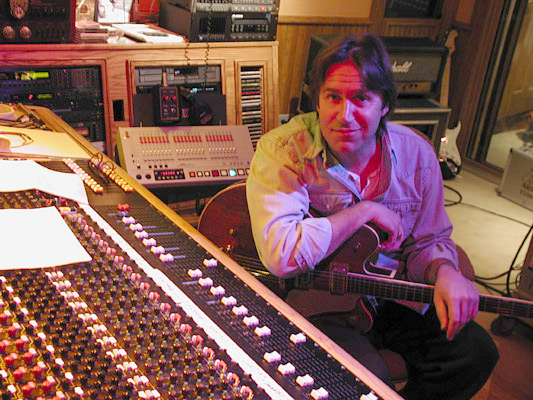 Dan Fogelberg in his Mountain Bird Studio