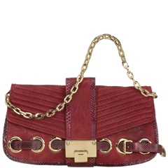 Jimmy Choo Biker bag in Burgundy...had to get that fab couch in here somehow