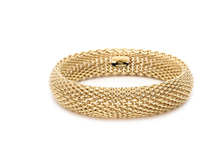 Tiffany gold mesh bangle