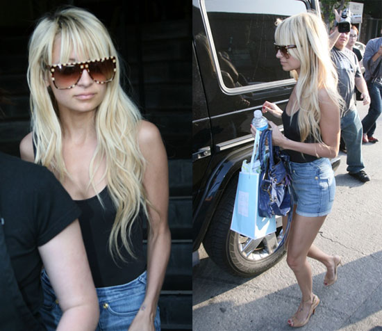 nicole richie long blonde hair