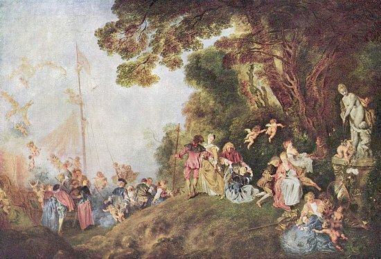 Pilgrimage to Cythera by Jean-Antoine Watteau