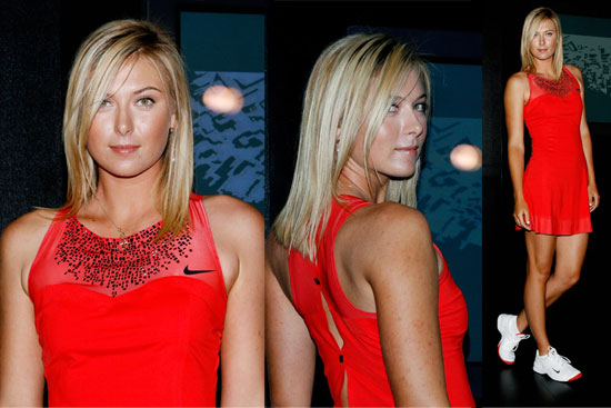 Sexy Maria Sharapova's long blonde hairstyle