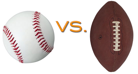 """compare and contrast baseball and football sport When it comes to the level of difficulty, baseball, rather than football, is the harder sport of the two to play professionally this is because of the physical and mental aspects of the game, the ride to get to the highest level of play, and the skill level  3 thoughts on """"comparison/contrast essay: baseball vs football."""