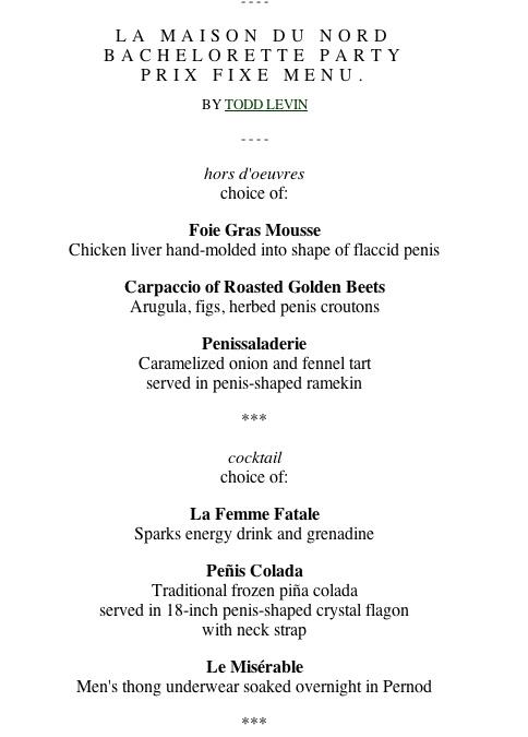 Fancy French Restaurant Menu - intellego