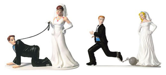 Wedding Cake Toppers Humorous