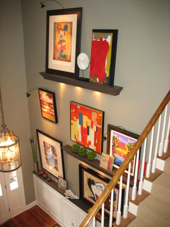 Foyer Art Jobs : Su casa before and after foyer popsugar home