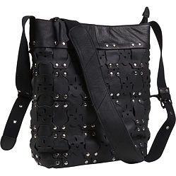 Dan W Mortisha Skull & Stud Jumbo Messenger- eBags :  messenger skull and crossbones mortisha skull stud jumbo messenger dan w mortisha
