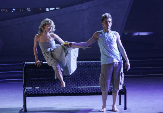 Travis Wall and Heidi bench dance so you think you can dance