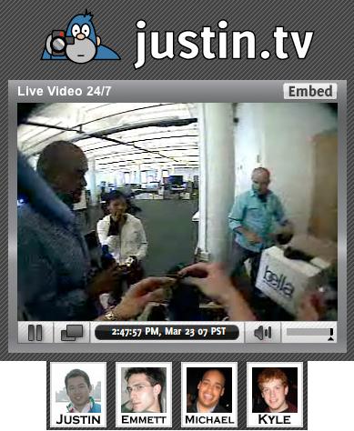 Live Blogging 24/7: Justin.