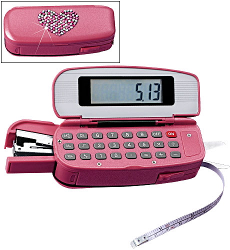 Love It or Leave It? Pink Calculator/Stapler Combo | POPSUGAR Tech