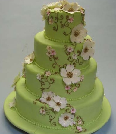 An additional trend for 2007 is colorful cakes