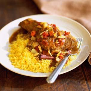 Sunday dinner algerian lamb shanks with cardamom and for Algerien cuisine