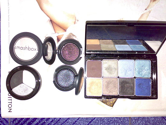 My collection of black eyeshadows & palettes
