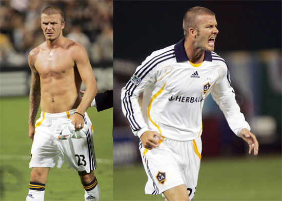 david beckham playing soccer shirtless. David#39;s biggest cheerleaders