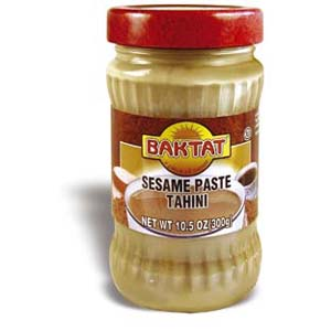 tahini typically used in middle eastern cooking a thick paste made ...