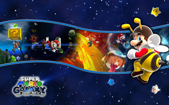 super mario wallpaper. game, Super Mario Galaxy.