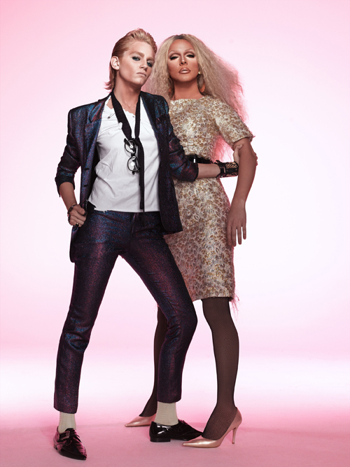 """80s Glam Rock Couple"""
