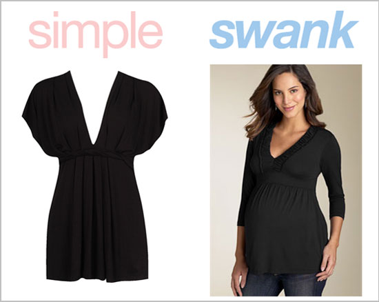 Simple black maternity dress