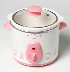Check out the Hot Hello Kitty crock pot.