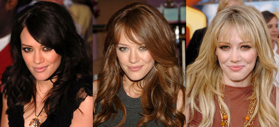 hair the same style for some time now (long loose layers and bangs),