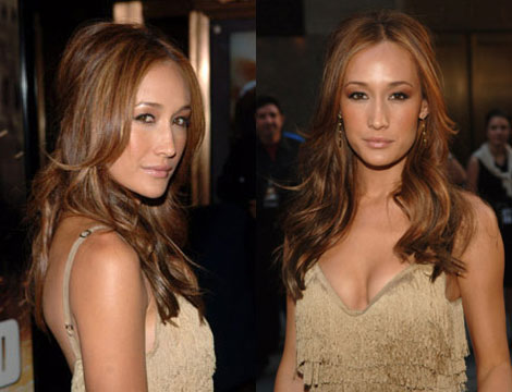 keep those grey roots colored like me. Maggie Q Hairstyles