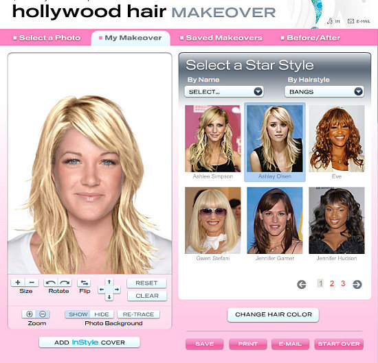 preferred cuts and colors with In Style's new Hollywood Hair Makeover.