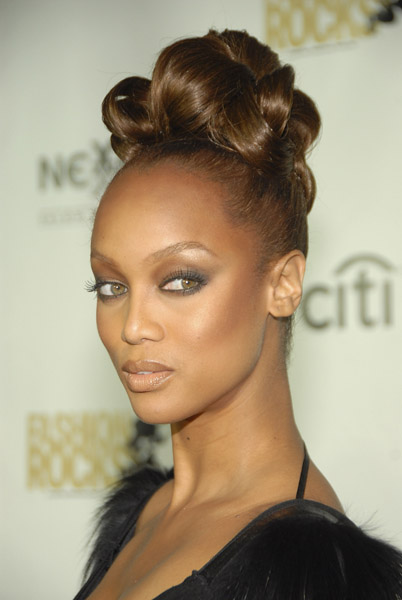 But Tyra Banks' hair at the Fashion Rocks party was more daring than most of