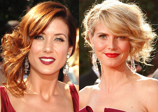 short up do hairstyles. celebrity red dress with updo hairstyles