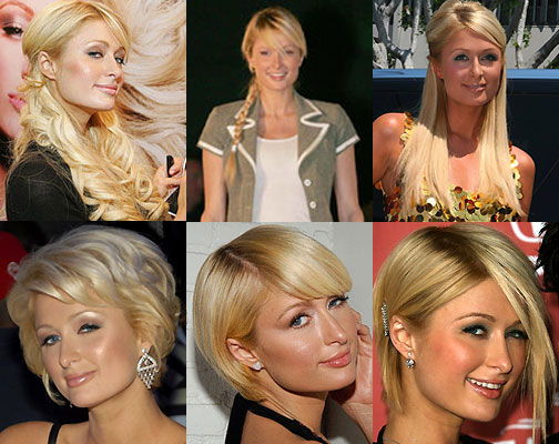 Here's a collage of images of her hairstyles throughout 2007.