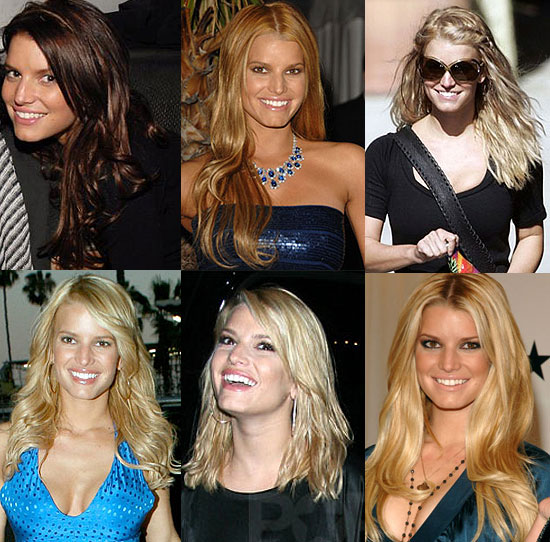 Jessica Simpson blonde Hair styles